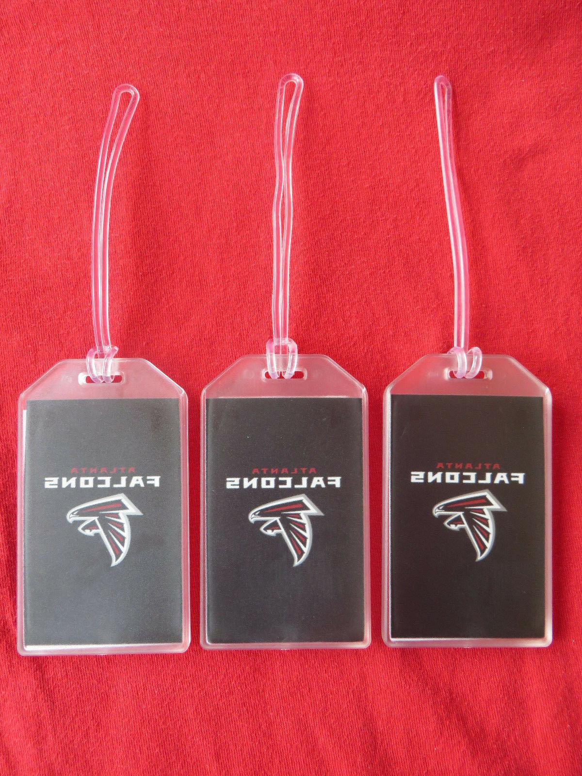 atlanta falcons logo football luggage tags 3