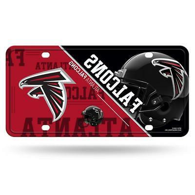 atlanta falcons metal license plate new nfl
