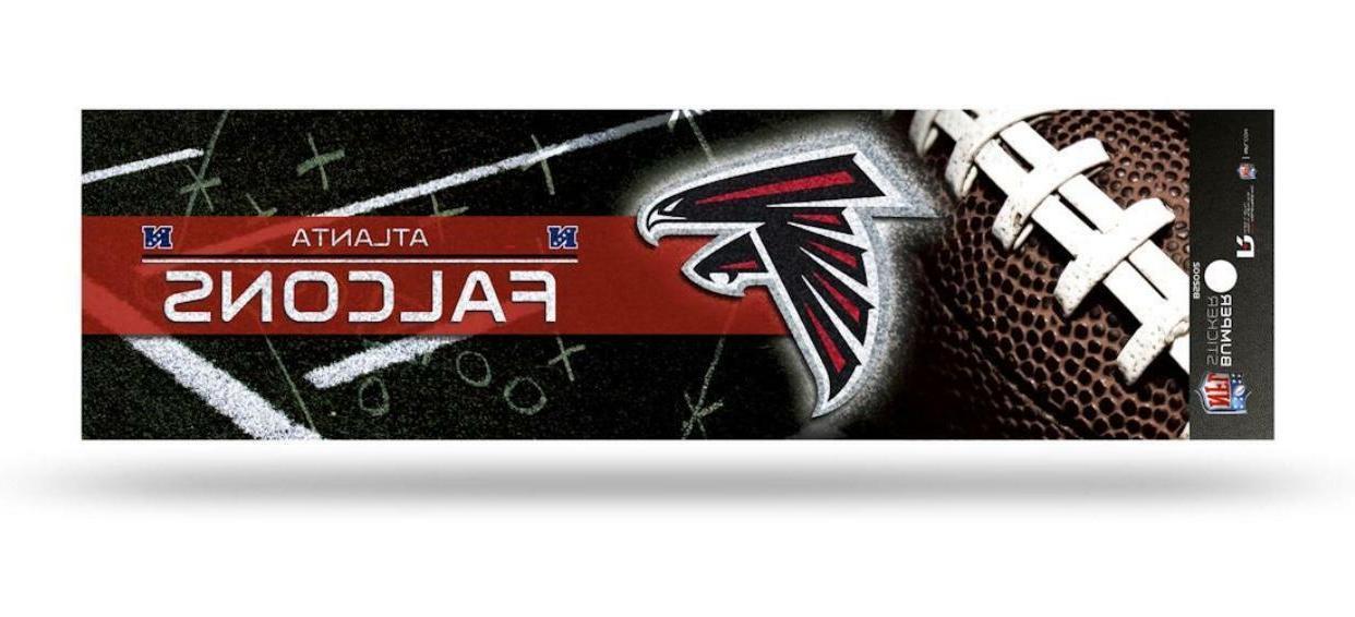 atlanta falcons nfl gridiron decal bumper sticker