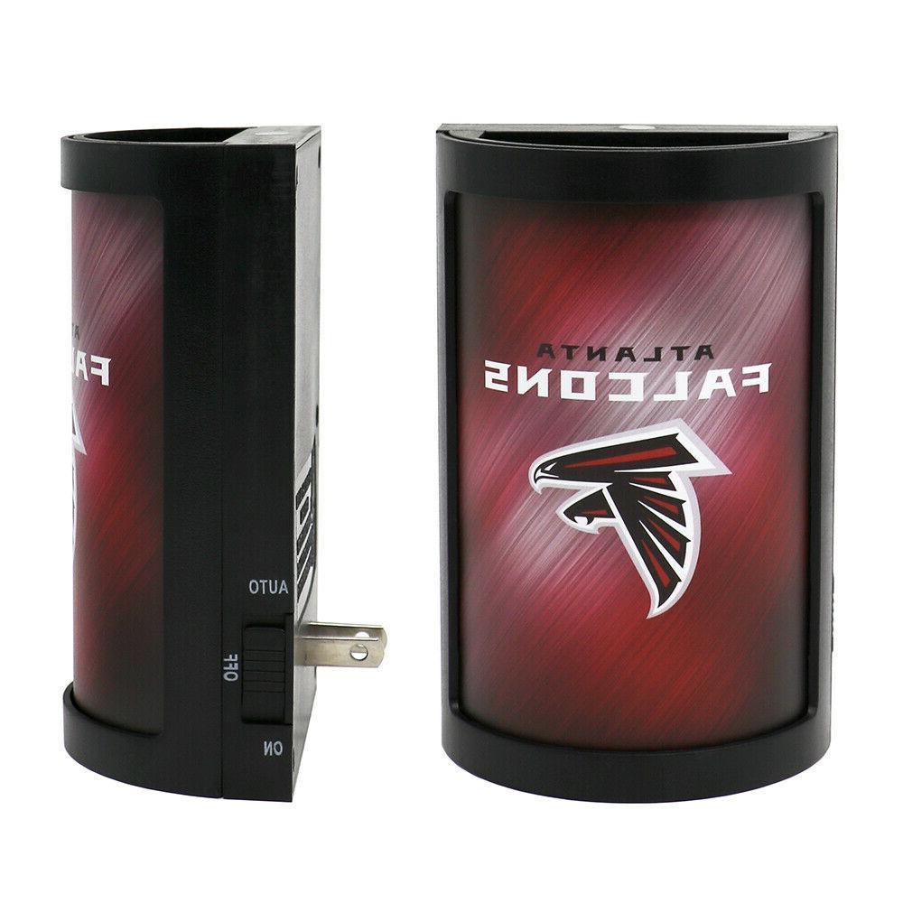 "NFL Atlanta Falcons Night Light 5"" X 3.5"" LED Light Plug In"