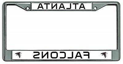 atlanta falcons premium chrome frame metal license