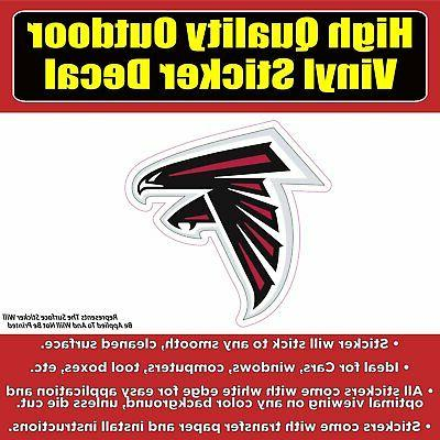atlanta falcons vinyl car window laptop bumper