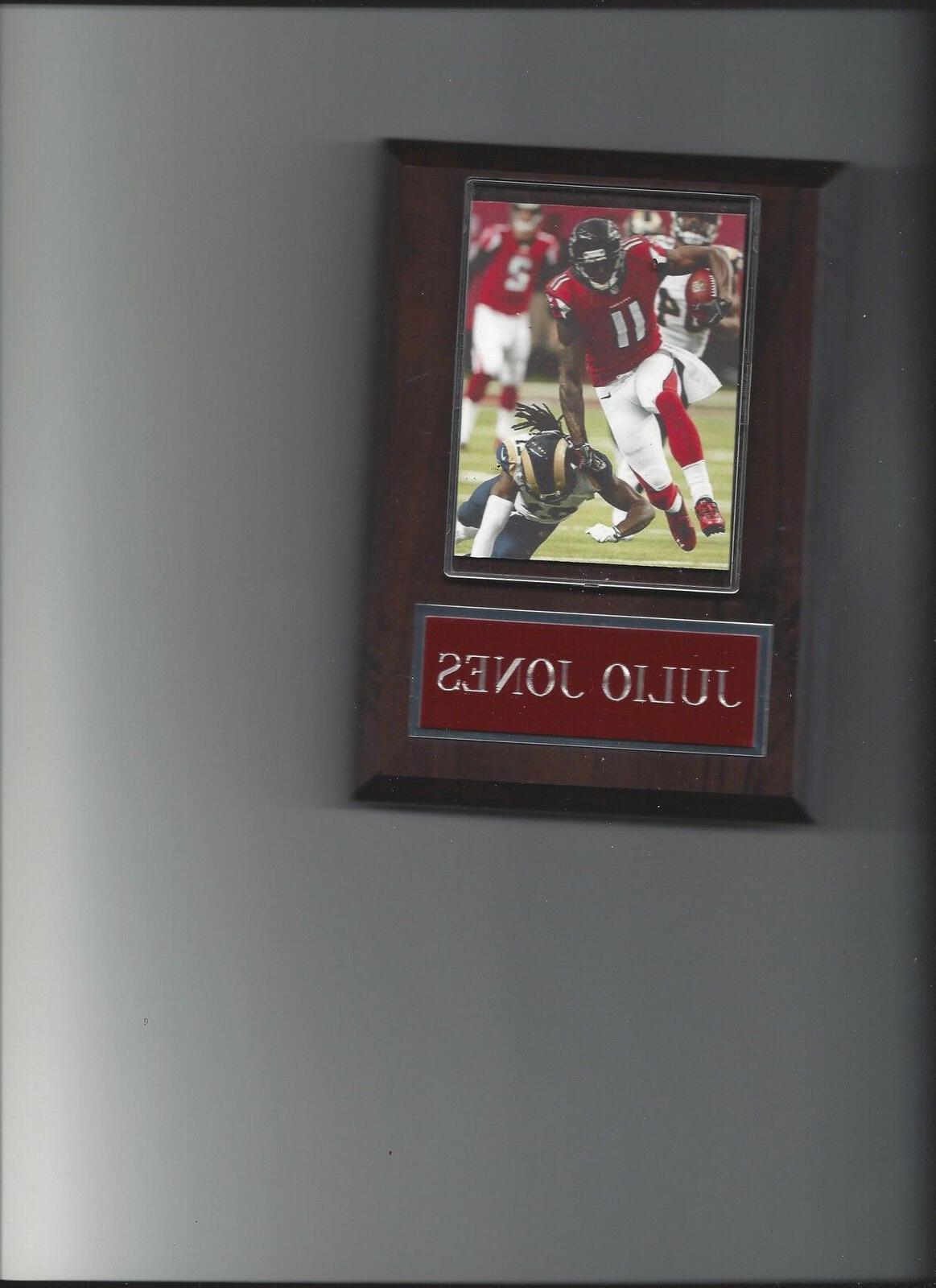 julio jones plaque atlanta falcons football nfl