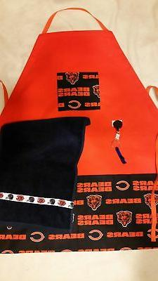 Handmade Sports Apron made with NFL fabric on sturdy canvas