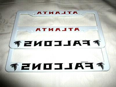 two 2 atlanta falcons embossed license plate