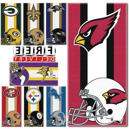 """Large Beach Towel NFL 30""""x60"""" Cotton Polyester Home Garden T"""