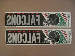 Lot Of  Vintage Atlanta Falcons 1990's Wincraft Bumper Stick