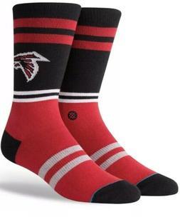 STANCE MENS NFL ATLANTA FALCONS LOGO RED Black CREW SOCKS Ne