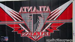 NEW 3x5 ft ATLANTA FALCONS EZ NFL FLAG WITH BRASS GROMMETS
