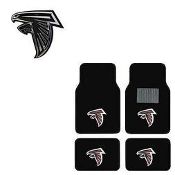 New 5pc NFL Atlanta Falcons Car Truck Floor Mats & Chrome Em
