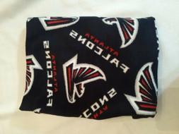 new atlanta falcons fleece pillow black red