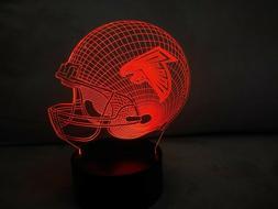 New Atlanta Falcons Multi Color LED Helmet 3D Lamp Night Lig