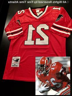 NEW Deion Sanders Atlanta Falcons Men's M&N RED Home Retro J