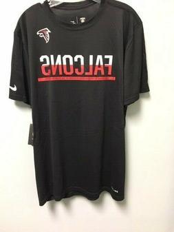 New Men's NIKE Atlanta Falcons Black Dri-Fit Shirt NFL size