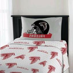 NEW NFL Atlanta Falcons 3 PC Bed Twin Sheet Set with One Pil