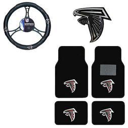 New NFL Atlanta Falcons Car Truck Floor Mats Steering Wheel