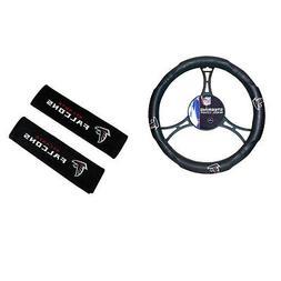 New NFL Atlanta Falcons Car Truck Steering Wheel Cover Seat