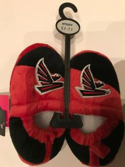 NEW Foco NFL Atlanta Falcons Football Logo Youth Slippers Si