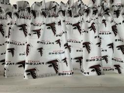 NEW NFL Atlanta Falcons Football Sports Valance Curtain Diff