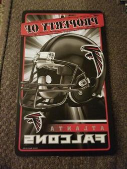 New NFL Licensed Atlanta Falcons Property Sign Plastic Decor
