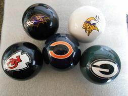New! NFL Team Logo Billiard / Pool / Cue Ball- Pick Your Tea