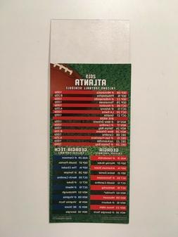 NFL 2019 ATLANTA FALCONS MAGNET SCHEDULE / ALSO NCAA GEORGIA