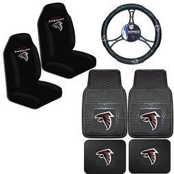 NFL Atlanta Falcons Car Truck Seat Covers Floor Mats & Steer