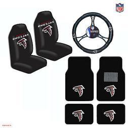 NFL Atlanta Falcons Car Truck Seat Covers Floor Mats Steerin