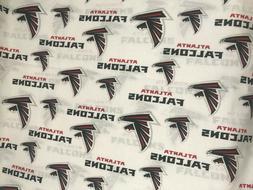 "NFL Atlanta Falcons Cotton Fabric 1/2 yd - 18"" x 60"""