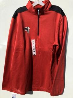 NFL Atlanta Falcons Mock Neck 1/2 Zip Long Sleeve Sweat Shir