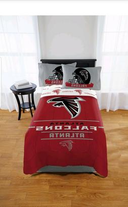 NFL Atlanta Falcons Monument 5pc Full Sheet Set & Comforter