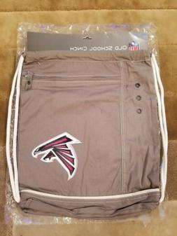 NFL ATLANTA FALCONS Old School Cinch Backpack Pack Drawstrin