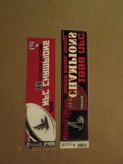 NFL Atlanta Falcons Vintage 1998 & 2016 NFC Champions Logo B