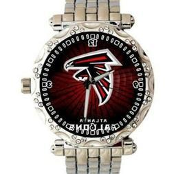 NFL Atlanta Falcons Watch Austrian Crystal Casual Dress Stai