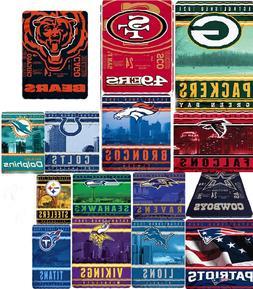 NFL blanket throw bedding XXL 66x90 lightweight fleece FREE