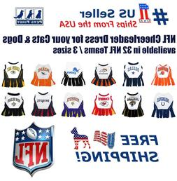 NFL Cheerleader Outfit for Dogs/Cats. 32 Football Teams, 3 S