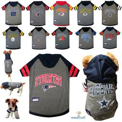 NFL Fan Gear Dog Shirt with Hood Hoodie for Pets Dogs -ALL T