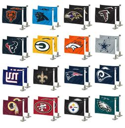 NFL Football Car Hood / Trunk Ambassador Flags Set of Two Do