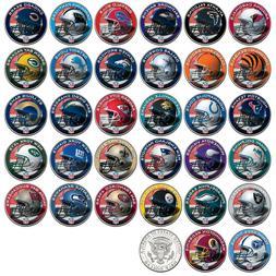 NFL HELMET LOGOS JFK Half Dollar US Football Coins OFFICIALL