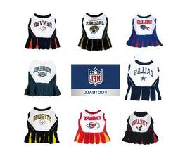NFL Pet Cheerleader Dress XSM - Med Size Multiple Teams U PI