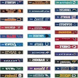 "NFL Street Sign  4""x24"" Football Logo Man Cave"