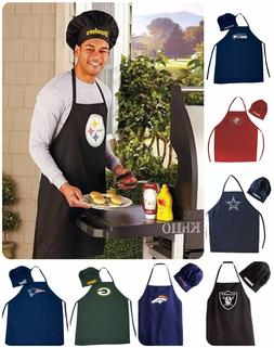 NFL Team Barbecue Tailgating Apron and Chef's Hat