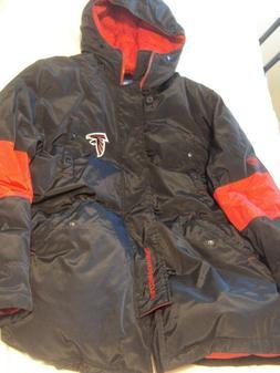 Reebok On Field Atlanta Falcons Hooded Coat Size 2XL New Wit