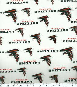 RARE! Atlanta Falcons Cotton Fabric Logo 1/4, 1/2, 1 Yard