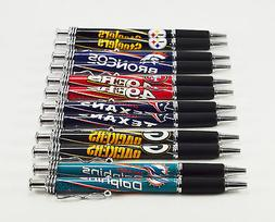 * Set of 2 * NFL Football Click Pens w/ Rubber Grip and Chro