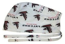 Surgical Scrub Hat Cap made with Atlanta Falcons NFL Fabric