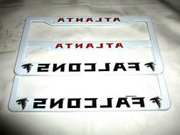 TWO  ATLANTA FALCONS EMBOSSED LICENSE PLATE FRAMES #16 - NEW
