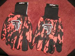 TWO  PAIR OF ATLANTA FALCONS SPORT UTILITY GLOVES FROM FOREV