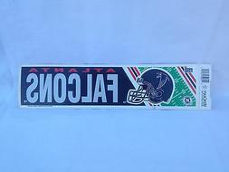 Vintage 91' Atlanta Falcons Bumper/Banner Sticker 3x11.5
