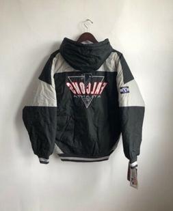 vintage atlanta falcons logo 7 jacket coat mens size large d